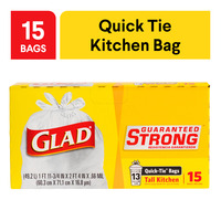 Glad Quick-Tie Garbage Bags - Large
