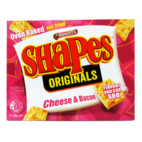 Arnott's Shapes Originals Biscuits - Cheese & Bacon