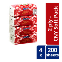 FairPrice Facial Tissues - CNY Soft Pack (2ply) 4S x 200S