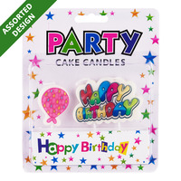 KIDF Novelty Party Cake Candles - Happy Birthday