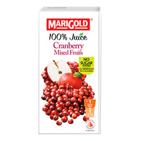 Marigold 100% Packet Juice - Cranberry Mixed Fruits