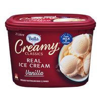 Bulla Creamy Classics Ice Cream - Vanilla 2L