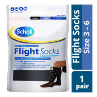 Scholl Flight Socks - Size 3 - 6