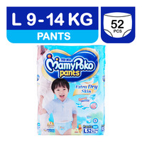MamyPoko Extra Dry Skin Boy Pants - L (9 - 14kg) 52S + 4S
