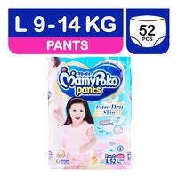 MamyPoko Girls Diaper Pants - L (9 - 14kg) 52S