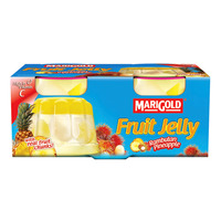 Marigold Fruit Cup Jelly - Rambutan Pineapple 2 x 125G