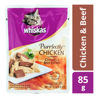Whiskas Purrfectly Pouch Cat Food - Chicken & Beef