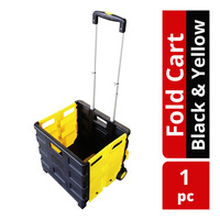 HomeProud Fold Cart - Black & Yellow
