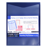 Plus Expanding Envelope Folder - Blue (Vertical)