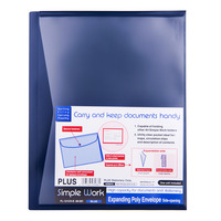 Plus Expanding Envelope Folder - Blue