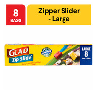 Glad Zip Slide Storage Bags - Large