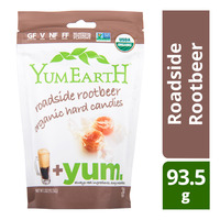 Yum Earth Organic Hard Candies - Roadside Rootbeer