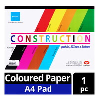 Besform Construction Coloured Paper Pad - A4