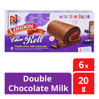London Roll Cream Cake - Double Chocolate Milk