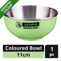Zebra Stainless Steel Coloured Bowl - 11cm