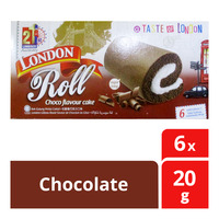 London Roll Cream Cake - Chocolate
