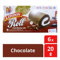 London Roll Cream Cake - Chocolate  6 x 20G