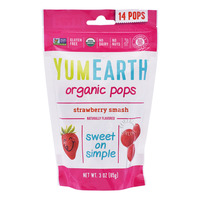 Yum Earth Organics Lollipops - Strawberry Smash