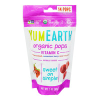 Yum Earth Organics Lollipops - Vitamin C Pops (Mixed Berries)