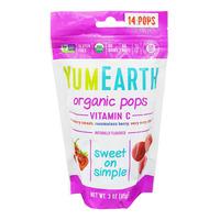 Yummy Earth Organics Lollipops - Vitamin C Pops (Mixed Berries)