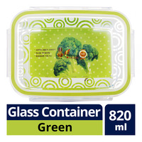 Komax Bioglass Glass Container - Green