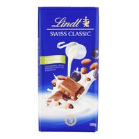 Lindt Swiss Classic Chocolate Bar - Milk with Raisins & Nuts