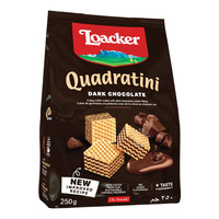 Loacker Quadratini Crispy Wafers - Dark Chocolate