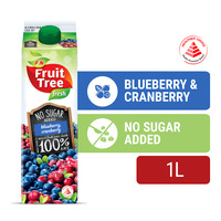 F&N Fruit Tree Fresh No Sugar Added Juice - Blueberry & Cranberry