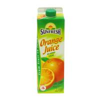 Sunfresh No Sugar Added Fruit Carton Juice - Orange