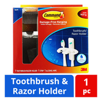3M Command Toothbrush & Razor Holder - White