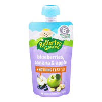 Rafferty's Garden Baby Food - Blueberry, Banana & Apple