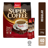 Super 3 in 1 Instant Coffee - Low Fat (Regular)