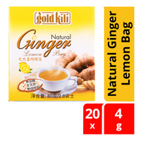 Gold Kili Natural Ginger Lemon Bag 20 x 4G