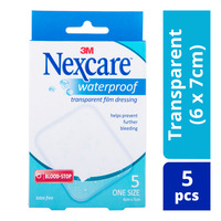 Nexcare Waterproof Bandages - Transparent (6 x 7cm)