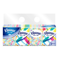 Kleenex Ultra Soft Facial Pocket Tissues - Floral (3ply)
