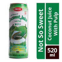 Wong Coco Coconut Juice With Pulp Can Drink (No Sugar Added)
