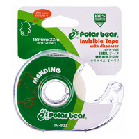 Polar Bear Tape with Dispenser - Invisible (18mm)