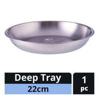 Zebra Stainless Steel Deep Tray - 22cm