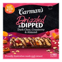 Carman's Muesli Bars - Dark Chocolate with Cranberry & Almond