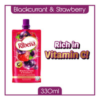 Ribena Blackcurrant Fruit Packet Drink - Strawberry