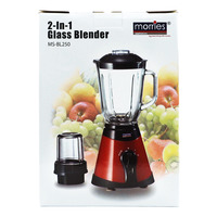 Morries 2 in 1 Glass Blender (MS-BL250)