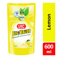 UIC Big Value Natural Dishwashing Liquid Refill - Lemon