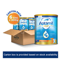Aptamil Gold+ Toddler Growing Up Milk Formula - Stage 3 6 x 900G (CTN)