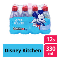Evian Natural Mineral Bottle Water - Disney Kitchen