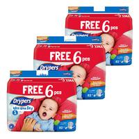 Drypers Wee Wee Dry Diapers - S(3-7kg)