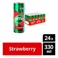 Perrier Sparkling Natural Mineral CanWater-Strawberry
