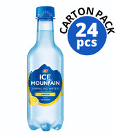 F&N Ice Mountain Sparkling Bottle Water - Lemon