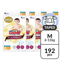 GOO.N Marshmallow Premium Soft Diapers M - 6-11kg - Carton