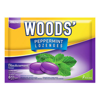 Woods' Peppermint Lozenges - Blackcurrant
