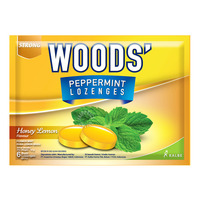 Woods' Peppermint Lozenges - Honey Lemon